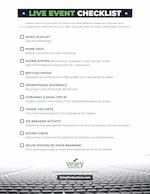 Live Event Checklist Preview