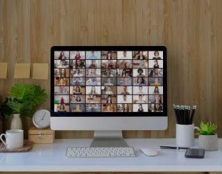 ZOOM Meeting on Desktop computer