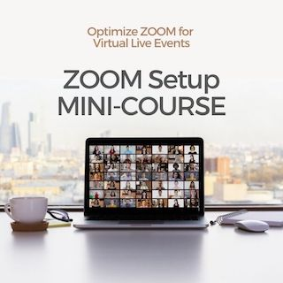 ZOOM meeting on laptop in office