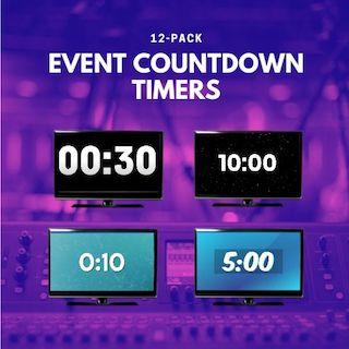 4 countdown timers on TVs