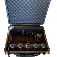Open Protective Case with Radios