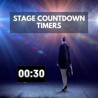 Woman on Stage with countdown timer