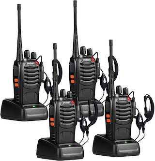 Four Two-Way Radios in Chargers